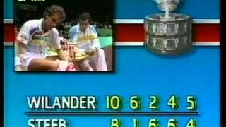 Tennis Davis Cup final 1988 Wilander vs Steeb