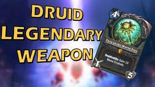 Hearthstone New Druid Legendary Weapon - Twig of the World Tree