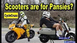 Scooters Are for Pussies? Scooter Vs Motorcycle | MotoVlog
