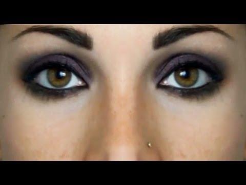 Semplice Smokey Eyes nero e borgogna  Beautydea - YouTube
