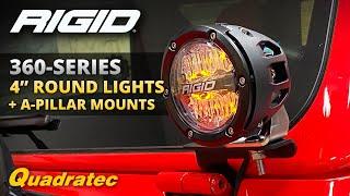 JL Rigid Industries 41659 A-Pillar Mount Fits 18 Wrangler