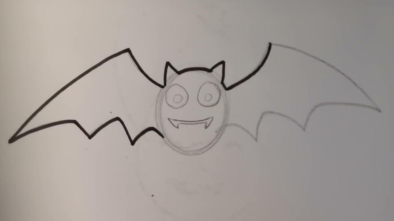 How To Draw A Cute Bat