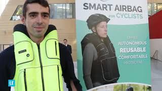 """CES LAS VEGAS 2019 : présentation de """"Helite"""", start-up proposant un airbag pour ... cycliste !"""