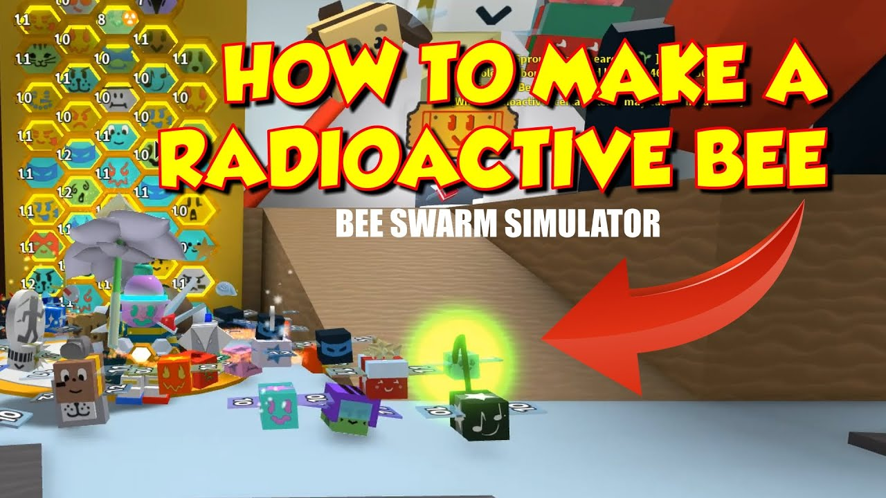 How To Make A Radioactive Bee With Free Neonberries In Bee Swarm Simulator Youtube