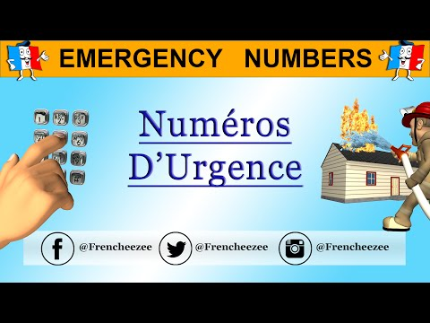 FRENCH EMERGENCY NUMBERS