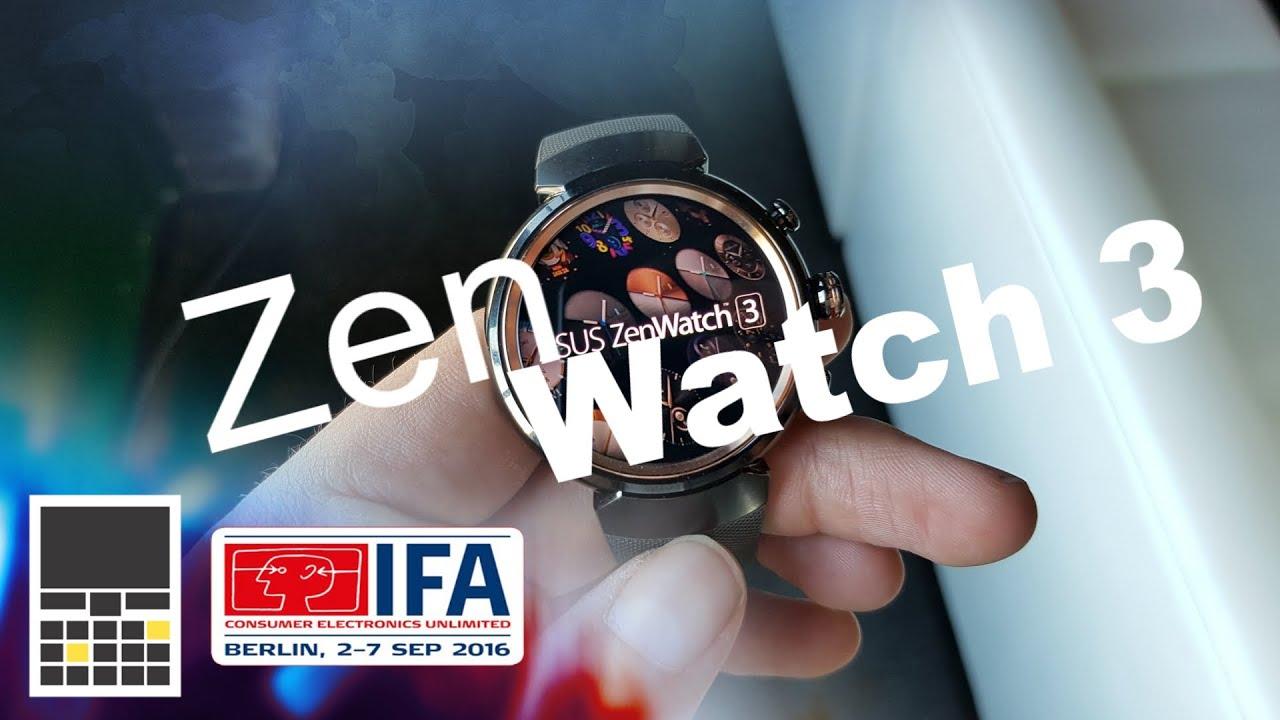ASUS ZenWatch 3: Премиальные часы за 230€