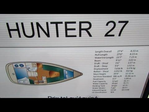 2013 Hunter 27 Sailing Yacht - Walkaround - 2013 Montreal Boat Show