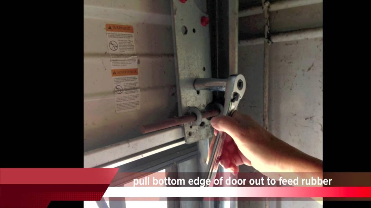 Garage Door Bottom Seal Replacement Install Tips - YouTube