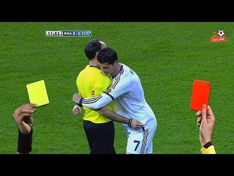 كريستيانو رونالدو و ليونيل ميسي ◄ وجميع البطاقات الحمراء لهم في اللعبه !!