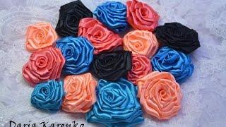 DIY Как  сделать розы из атласной ленты. Мастер класс / Ribbon roses(Смотрите пожалуйста мой мастер класс, о том, как быстро и легко сделать розы из атласной ленты своими руками..., 2016-09-06T11:58:11.000Z)