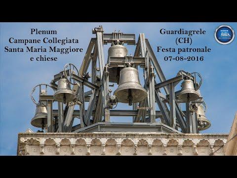 Plenum Campane Collegiata e chiese - Guardiagrele (CH) - Festa patronale 07-08-2016
