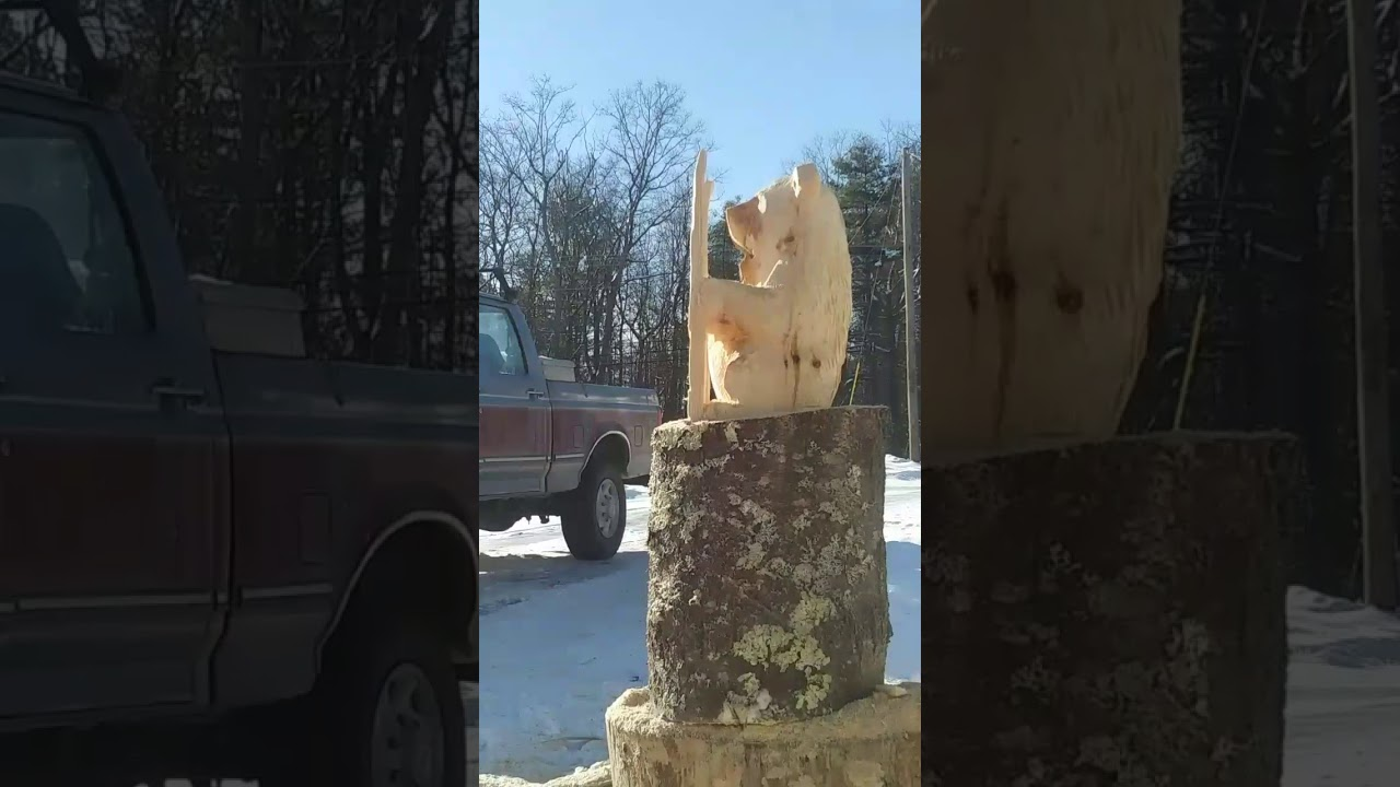 Maine chainsaw carving youtube