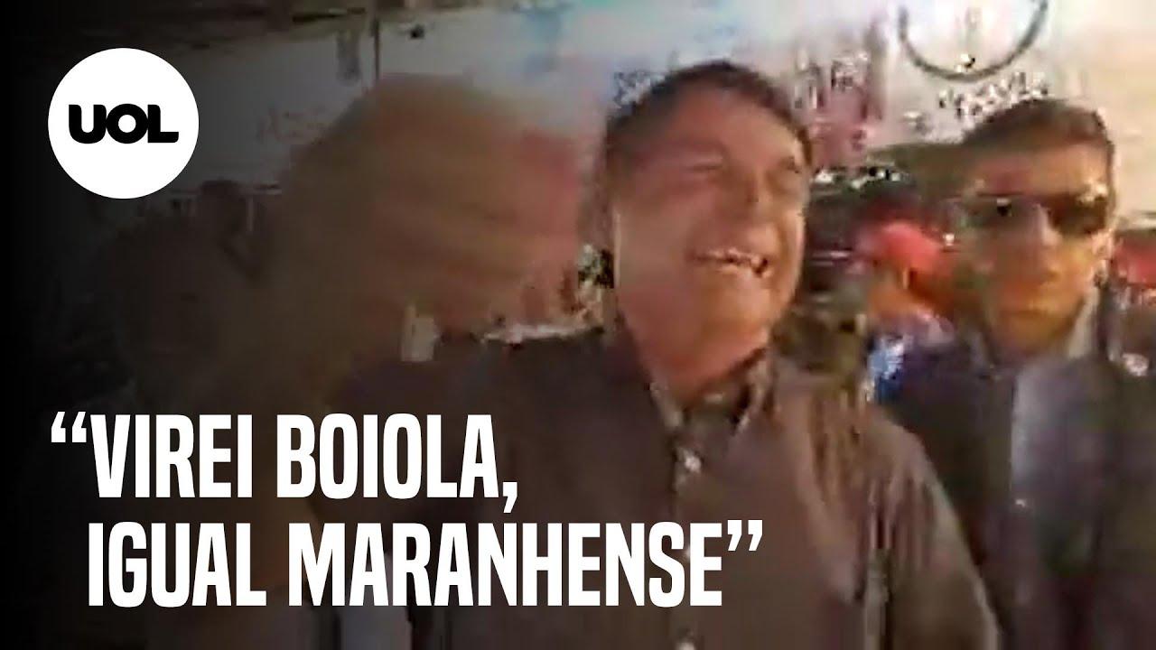 """Virei boiola, igual maranhense"""": Bolsonaro faz piada preconceituosa em  visita oficial ao Maranhão - YouTube"""