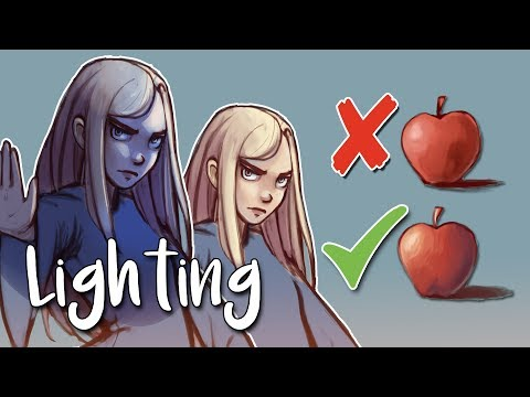 Basic Lighting & Colour Theory - Tips on How to Shade