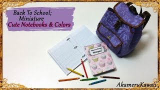 Back To School; Miniature Notebooks & Pencils - Polymer clay/Paper Tutorial