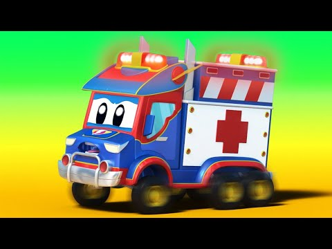 Ambulance videos for kids -  Hang on, Super Ambulance is coming! - Super Truck in Car City !
