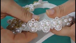 Chinelo decorado – Trama de coração – Coleção noivas – Maguida silva