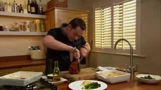 Neven Maguire Preparing Fillet Of Ham With Redcurrant Sauce