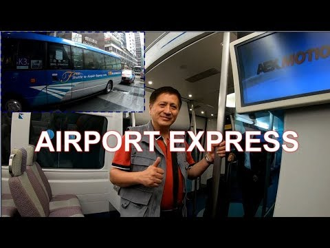 Hong Kong Airport Express + Free Shuttle Bus To Hotel