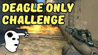 GLOBAL ELITE vs DEAGLE ONLY CHALLENGE - Jak dobrze strzelać z DESERT EAGLE?