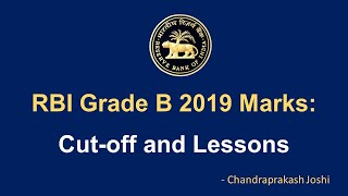 Marks and Lessons from RBI Grade B 2019 Cut-off - Low marks in interivew