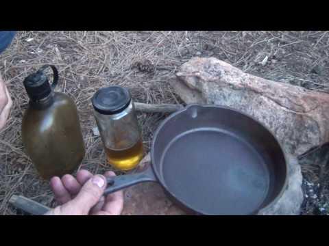 "Ozark Trail 8"" cast iron TORTURE test - combat seasoning"