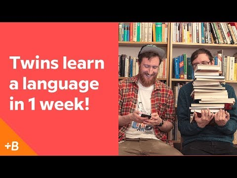 Identical Twins Attempt To Learn A Language In A Week | Babb