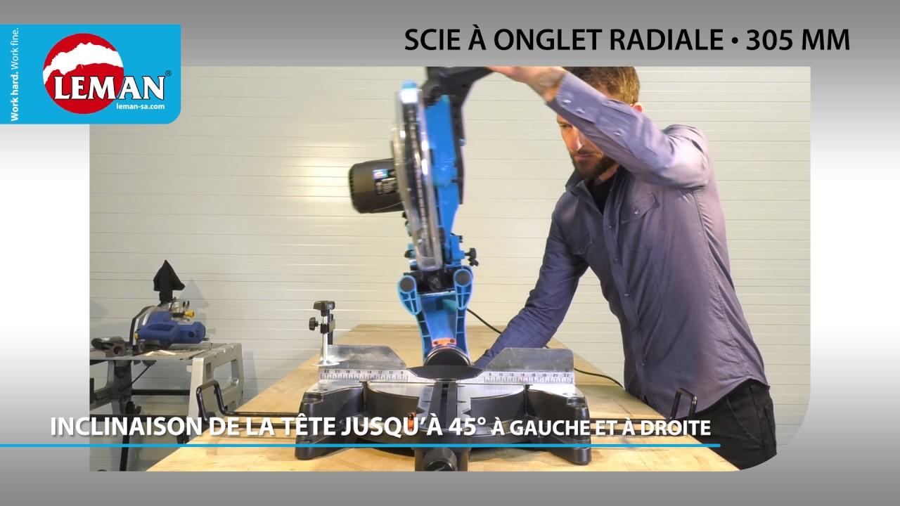 Scie à Onglet Radiale 305 Mm Leman Sa