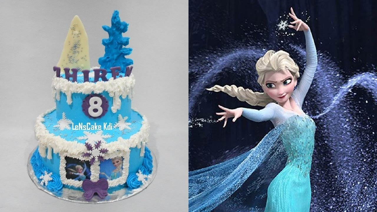 Frozen Elsa Birthday Cake Youtube