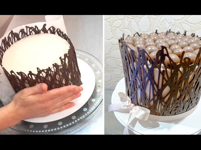 How To Make Chocolate Wrap Cage Chocolate Hacks By Cakes