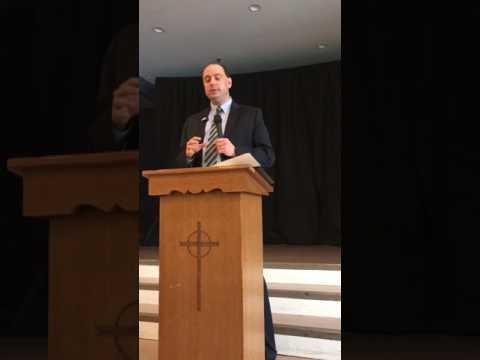 State Senator Jamie Eldridge in Acton at St Matthews April 29th 2017