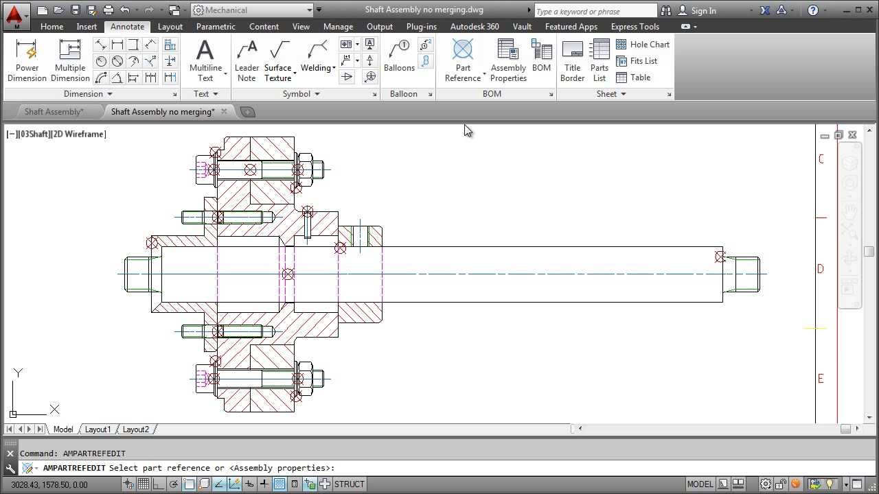 medium resolution of autocad mechanical 2014 parts list