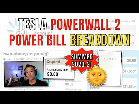 Tesla PowerWall 2 Power Bill Breakdown Summer 2020-21 Sydney Tesla Tom