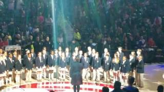 Woodward Academy Choir 5th and 6th Grade Sing National Anthem at Hawks Game 2017