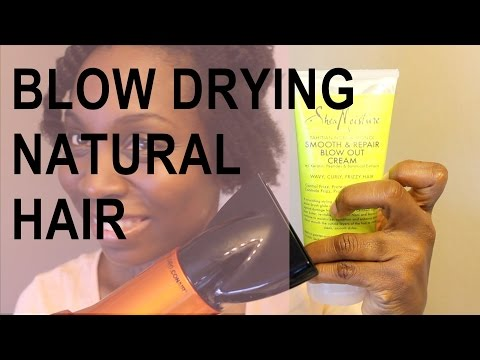 blow-drying-natural-hair-|-sheamoisture-tahitian-noni-&-monoi-blow-out-cream