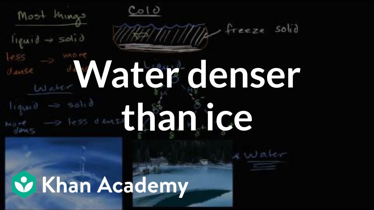 Liquid water denser than solid water (ice) (video) | Khan