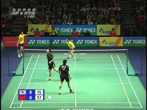 all england open 2009 Yun CAI Haifeng FU vs Sang Hoon HAN Ji Man HWANG All England Open 2009 Final1