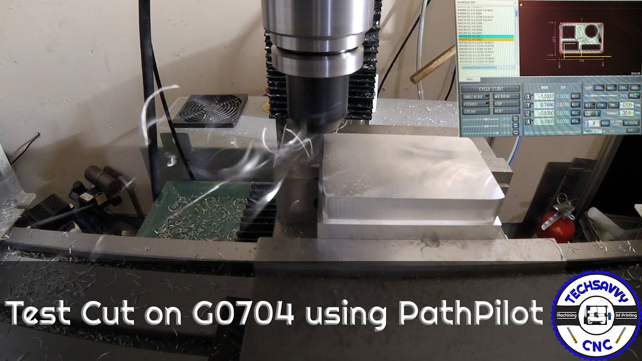 First Test Cut on G0704 Using PathPilot and Adaptive Clearing