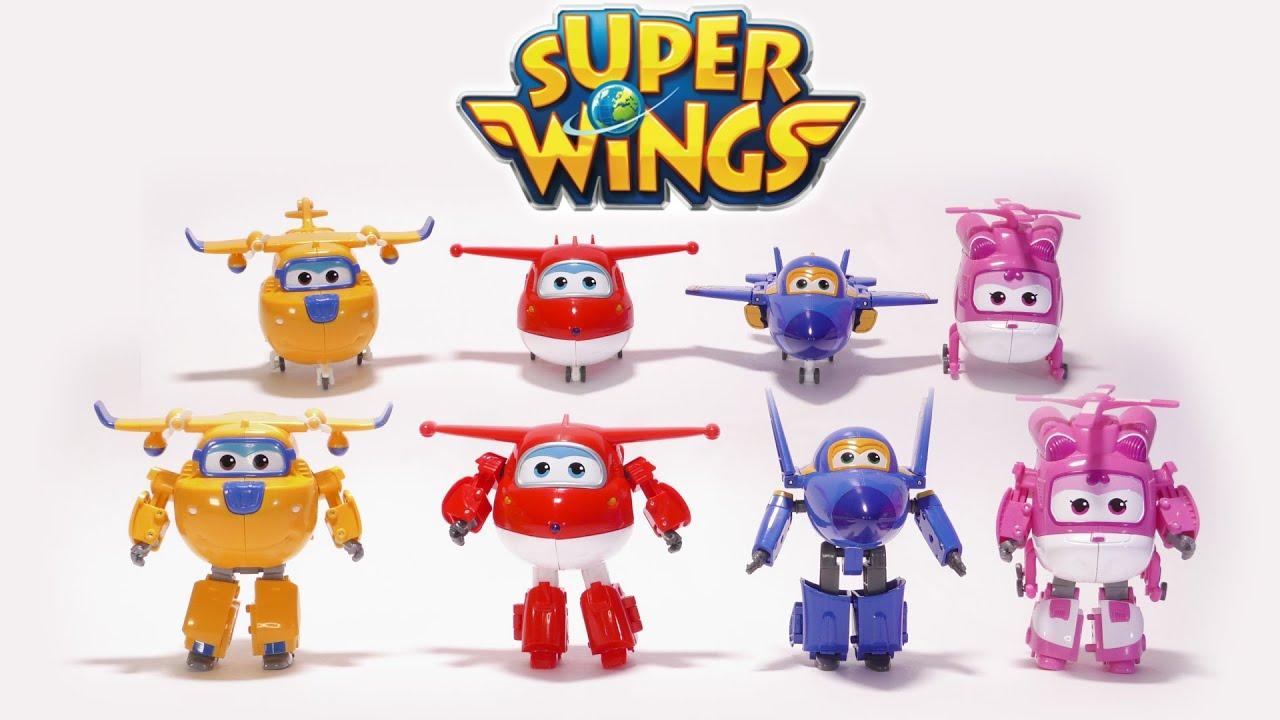 Распаковка игрушек киндер сюрприз Супер крылья Джетт и его друзья .
