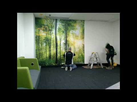 Custom Wallpaper Installation - Asia Pacific Serviced Offices