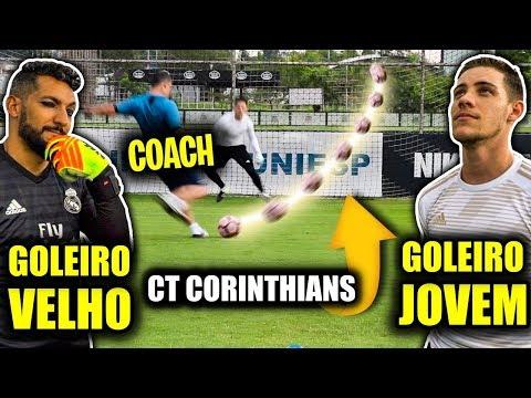 COACH MITOU NO CT DO CORINTHIANS! (GOLEIRO VELHO vs GOLEIRO JOVEM)