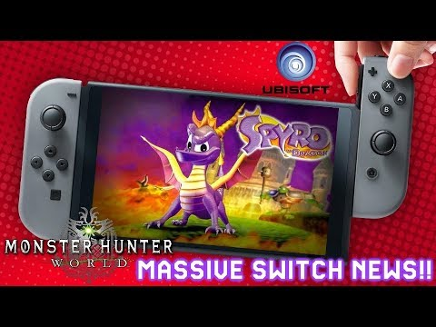 Massive Switch News: Spyro Trilogy Remaster PS4 & Switch ? Monster Hunter World Switch & More!!!