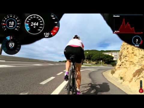 Helsinki Triathlon workout, bike leg. Calella, Spain.