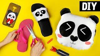 DIYs de Panda 🐼 Ideias Fofas: Pantufa, Capinha de Celular e Almofada
