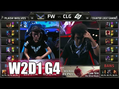 CLG vs Flash Wolves Game 2 | Week 2 Day 1 Group A LoL S5 World Championship 2015 | FW vs CLG G2