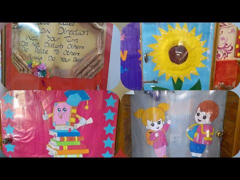 Classroom door decoration idea for teachers  school decoration idea