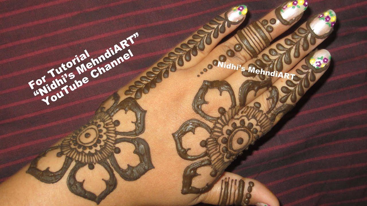 Henna Mehndi S : Easy & diy henna mehndi design for back hand simple