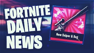 Fortnite Daily News *NEW* SNIPER & BUG DISCOVERS (5 January 2019)