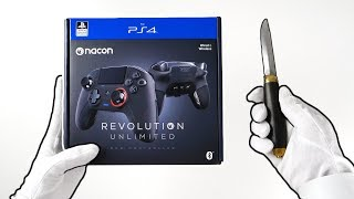 new-playstation-4-pro-controller-unboxing-nacon-revolution-unlimited-ps4-black-ops-4-infected