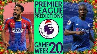 EPL Week 20 Premier League Score and Results Predictions 2018/19 Season